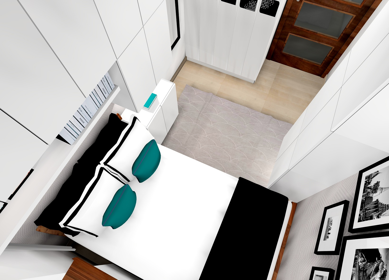 Sypialnia minimalistyczna