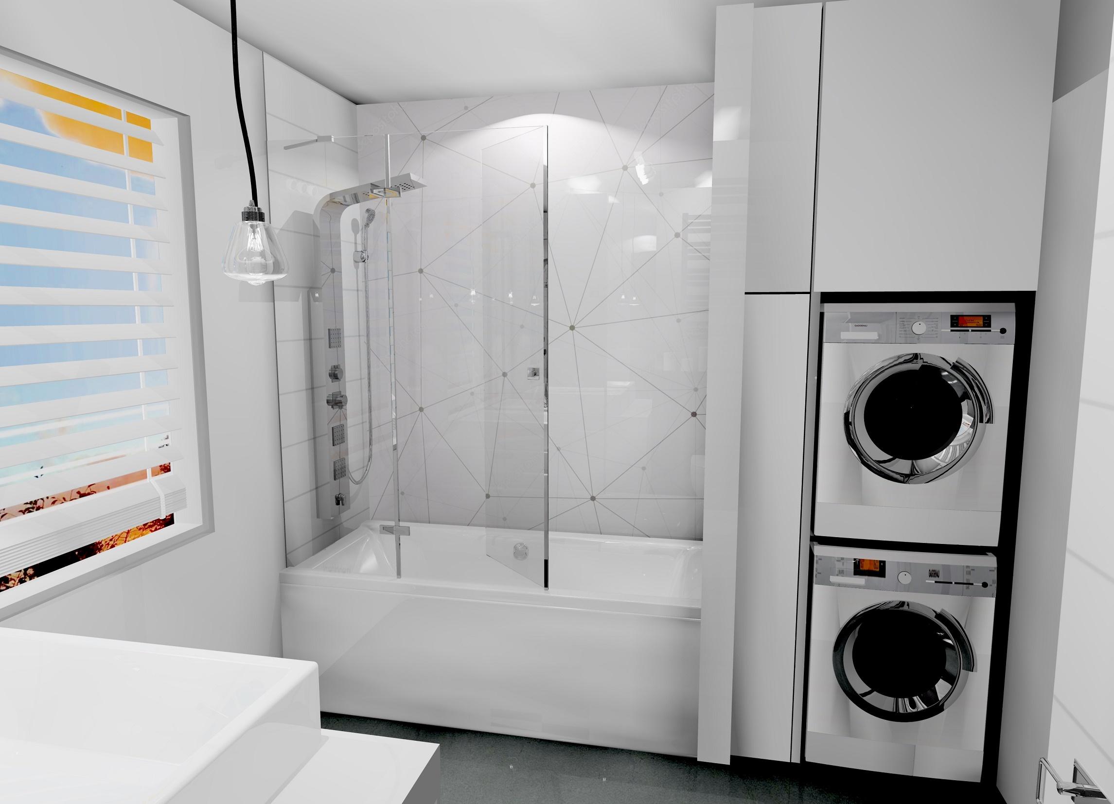 Szara łazienka w stylu industrialnym